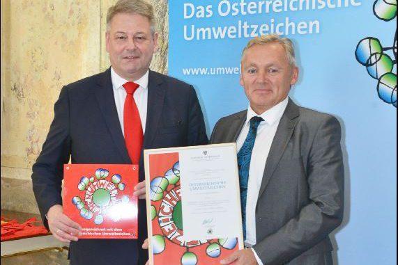 Die Windmöller Flooring Products WFP GmbH wurde mit dem österreichischen Umweltzeichen ausgezeichnet.