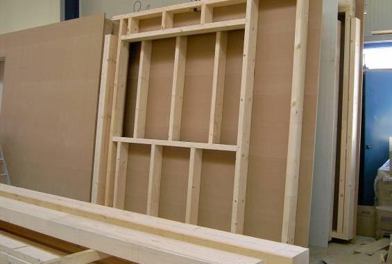 Holzständerwand