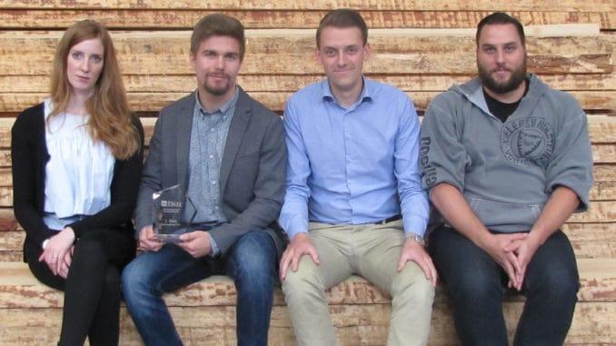 """playbizz""-Team v.l.: Regina Müller, Joshua Mann, Lasse Struck und Benjamin Hord."