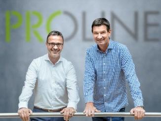 Im Bild: Proline-Geschäftsführer Martin Bartolovic (l.) und Hilmar Kusmierz (VKL Fliese).