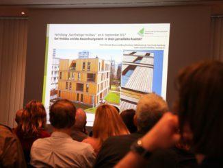 """120 Teilnehmer folgten dem Fachdialog """"Nachhaltiger Holzbau in Berlin und Brandenburg""""."""