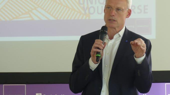 Zufrieden mit dem Anmeldestand zur Domotex 2018: Dr. Andreas Gruchow, Mitglied des Vorstands der Deutschen Messe AG.