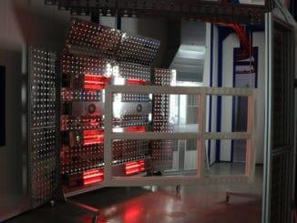 Die Halogentrocknungsanlage ermöglicht eine effiziente und konstante Trocknung von Aqua-Lacken.