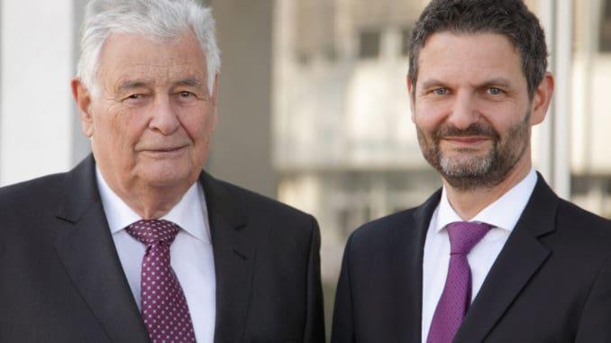 Familienunternehmer in der vierten und fünften Generation: Peter Hamberger (l.) und Dr. Peter M. Hamberger.