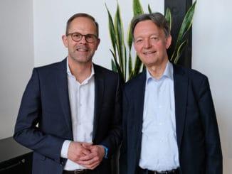 Jan Kurth (l.) wird neuer Hauptgeschäftsführer von HDH und VDM und folgt damit auf Volker Fasbender (rechts).