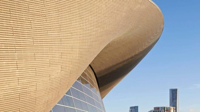 London Aquatics Center by Zaha Hadid Architects.