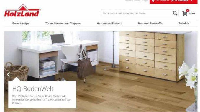 Modern, übersichtlich und intuitiv: Die Oberfläche des zentralen Holzland-Onlineshops.