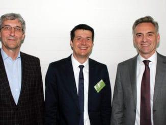 Der frisch gewählte MMFA-Vorstand v. l.: Carl Ruland, neues Vorstandsmitglied und Obmann des Arbeitskreises Marktentwicklung, Sebastian Wendel, neuer stellvertretender Vorstand und Obmann des Arbeitskreises Technik, und Matthias Windmöller, der für zwei weitere Jahre als MMFA-Vorsitzender im Amt bestätigt wurde.