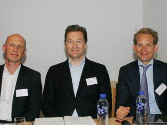 Die neu gewählte EPLF-Vorstandsriege v. l.: Vorstand Eberhard Herrmann, Präsident Paul De Cock und der stellvertretende Vorsitzende Max vom Tippelskirch.