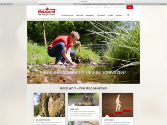 Die neue Partnerwebsite der Kooperation von Holzland.