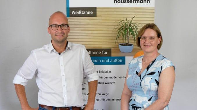 Stephan Seidel wurde in die Geschäftsführung von Häussermann berufen. Rechts im Bild die geschäftsführende Gesellschafterin Dagmar Stribel.