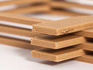 Beispiel für einen 3D-Holzdruck. Quelle: IHD.