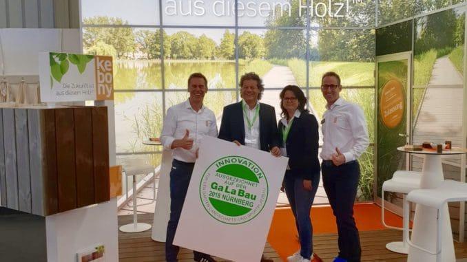 Innovationspreis für Kebony auf der Galabau in Nürnberg.