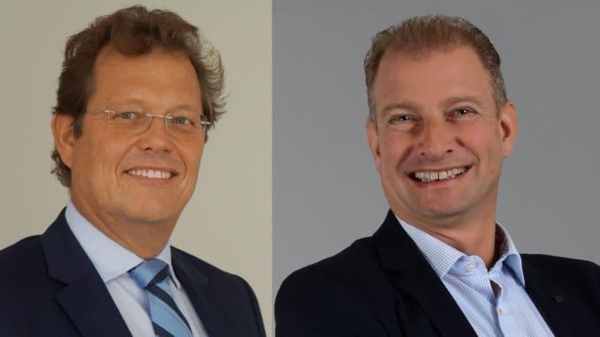 Die Klöpferholz GmbH & Co. KG wird per 1. Januar 2019 Hagebau- Gesellschafter. Im Bild v. l.: Manfred Meyer und Axel Grimm, Geschäftsführung Klöpferholz.