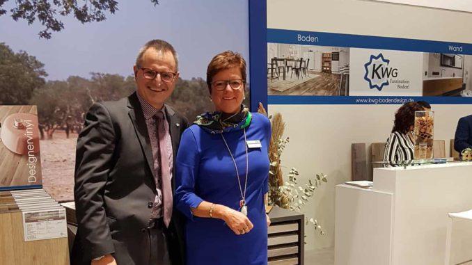 KWG, im Bild Geschäftsführer Thomas Biebusch und die Geschäftsführende Gesellschafterin Katrin Gärtner-Tison, waren mit ihrem Auftritt auf der Bau sehr zufrieden.