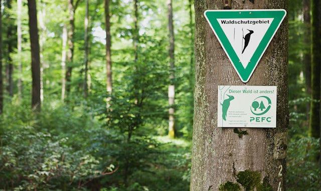 Immer mehr holzverarbeitende Unternehmen verwenden zertifiziertes Holz und belegen dies beispielsweise durch die PEFC-Zertifizierung.