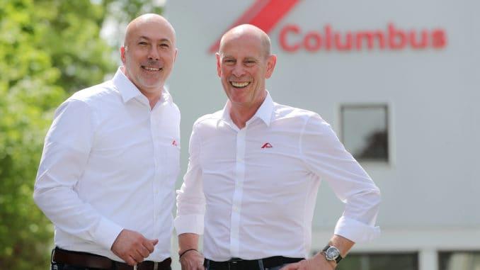 Columbus richtet seinen Vertrieb neu aus. Im Bild v. l.: Andreas Rusch, Vertriebsleitung für das Ausland, und Michael Marien, Geschäftsführer und Vertriebsleiter für Deutschland.