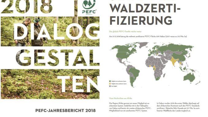 """""""Dialog gestalten"""": PEFC Deutschland hat ihren Jahresbericht 2018 veröffentlicht. [Bild: PEFC Deutschland]"""