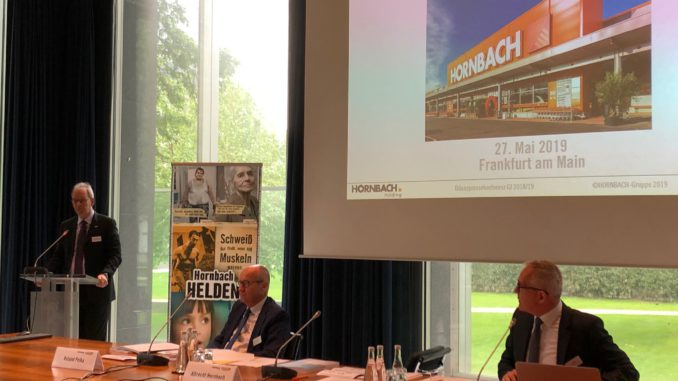 In Frankfurt hat der Hornbach-Vorstand gestern über das Geschäftsjahr 2019/2020 berichtet.